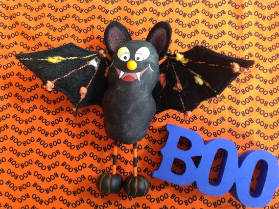 Silly Bat - Cloth Doll E-pattern A Silly Little Halloween Bat