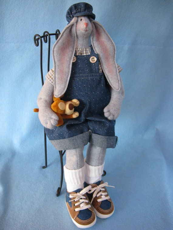 Billy - Cloth Doll E-Pattern 19inch Big Boy Bunny Rabbit