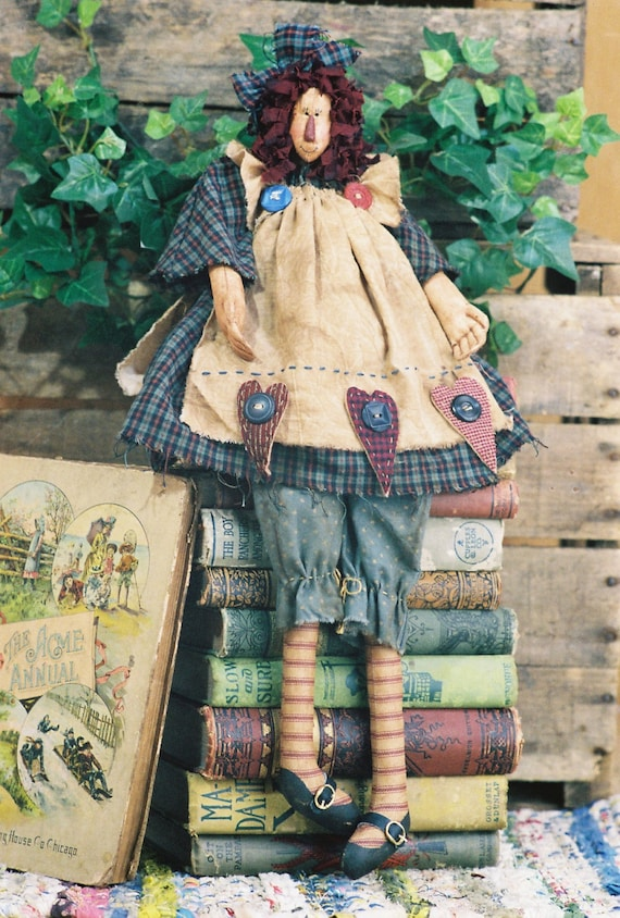 Anna - Mailed Cloth Doll Pattern - 19in Raggedy Ann Doll