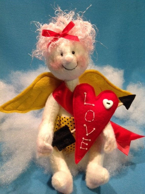 Cupid - Cloth Doll E-Pattern Cute little Valentine Cupid Angel