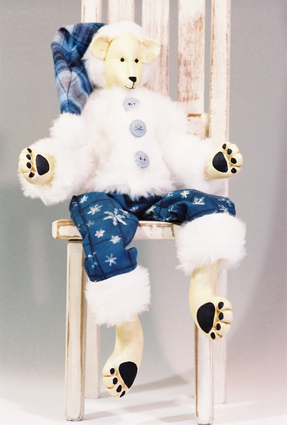 Humphrey - Mailed Cloth Doll Pattern - 18in Fur Dressed Polar Bear