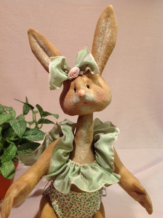 Isla Baby Bunny - Cloth Doll E-Pattern 12 inch Baby Girl Bunny Rabbit
