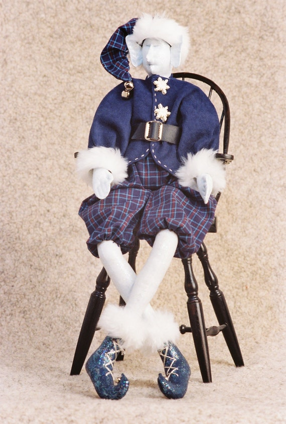 Jack Frost - Mailed Cloth Doll Pattern- 21in Winter Holiday Elf