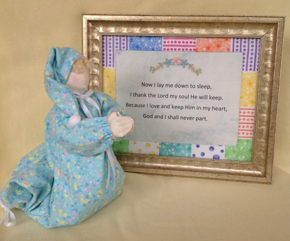 Now I Lay Me Down to Sleep - Mailed Cloth Doll Pattern Praying Child and Bedtime Prayer