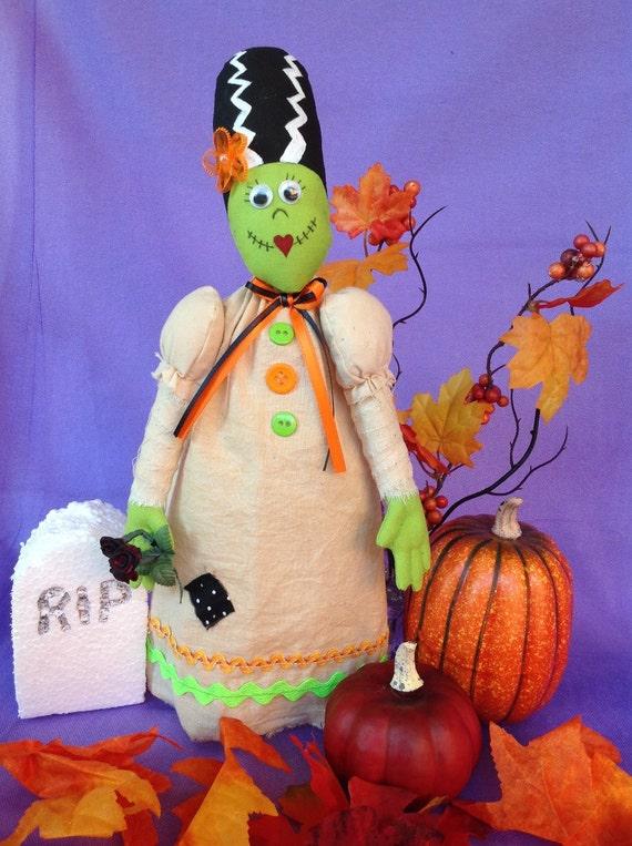 Johnnie - Cloth Doll E-Pattern 12in Bride of Frankenstein Monster Free Standing Stump Doll