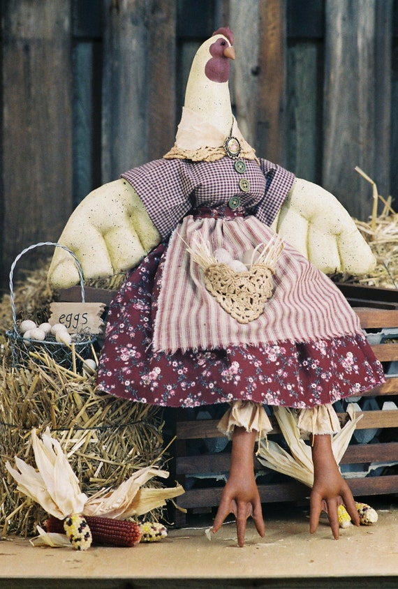 OOAK Doll Collectible Handmade Country Hen Art Doll