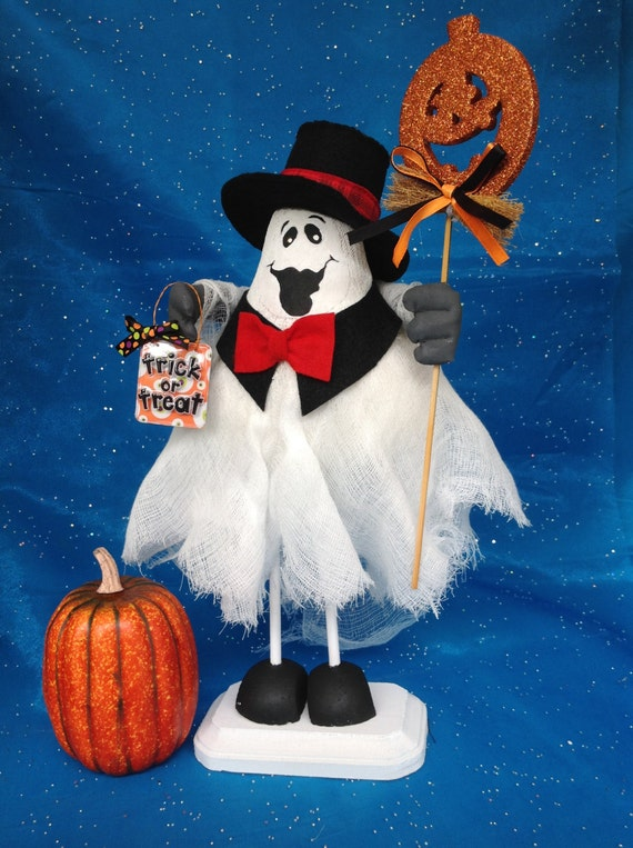 Humphrey Boo-gart - Cloth Doll E-Pattern Formal Top Hat & Tie Halloween Ghost
