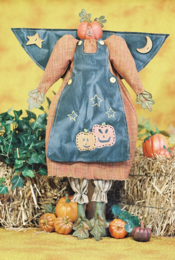 Pumpkin Angel - Mailed Cloth Doll Pattern- 20in Autumn Halloween Angel