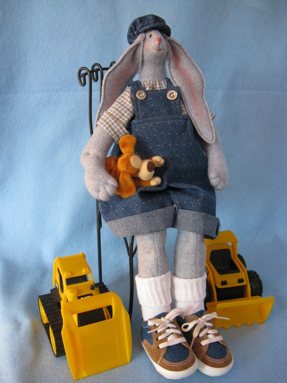 Billy - Mailed Cloth Doll Pattern 19inch Big Boy Bunny Rabbit