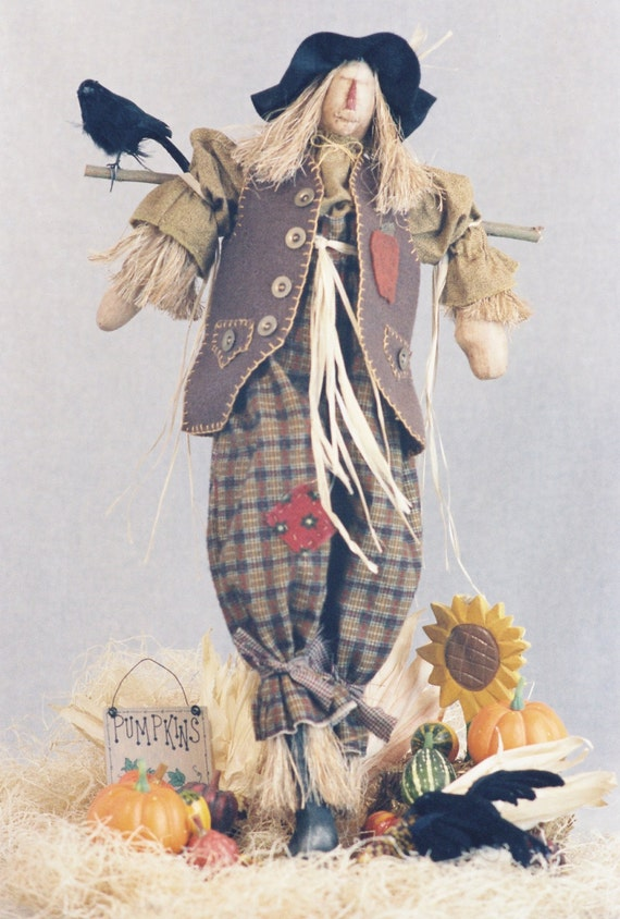 Ebeneezer - Mailed Cloth Doll Pattern - 24in Halloween Scarecrow