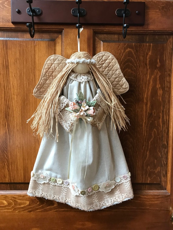 """Finished Doll 21"""" Hanging Victorian Country Angel"""