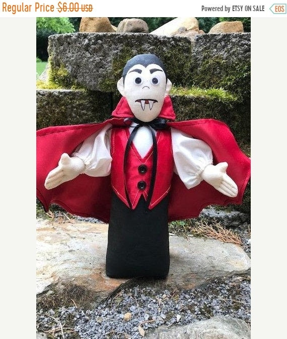 ON SALE Count Dracula Cloth Doll E-pattern