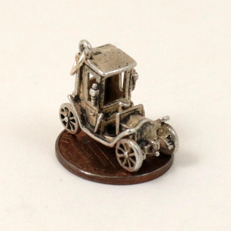 Vintage Sterling Silver Classic Car Charm Pendant