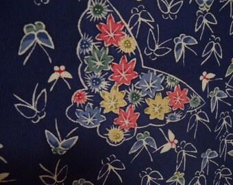 Vintage haori  S2036 blue colored  silk