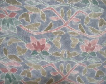 Vintage haori  S2042  grey blue silk