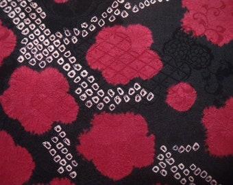 Vintage haori  S2041 black  silk