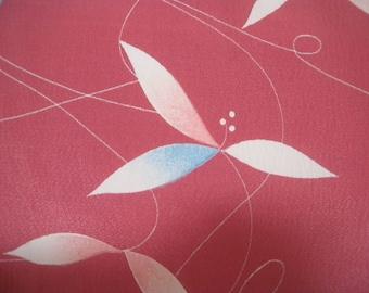 Vintage haori  S2046 smoky pink colored   silk