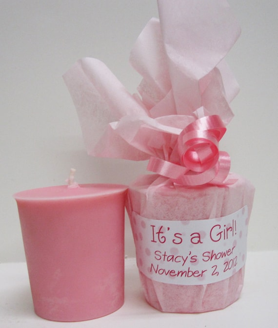Personalized Baby Shower Favors 10 Baby Powder Scented Soy Etsy
