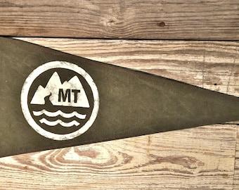 Montana Mountain Canvas Pennant