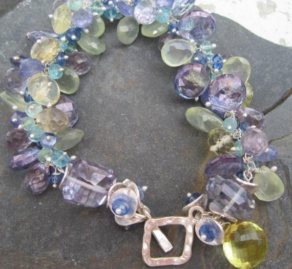 Tanzanite Bracelet, Apatite Bracelet, Prehnite bracelet, lemon quartz bracelet, Blue Quartz bracelet, Kyanite bracelet, gemstone bracelet