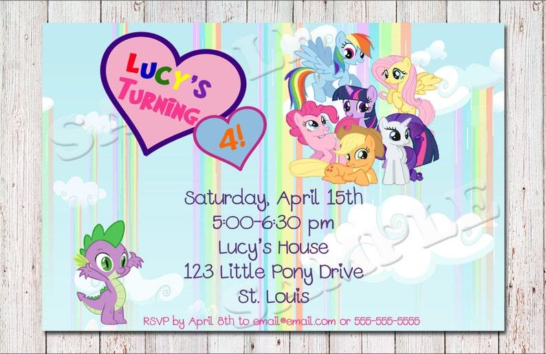 My Little Pony Birthday Invitation PRINTABLE