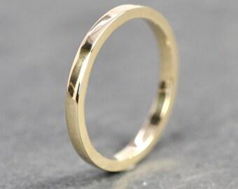 d96652b9bfa 14K Yellow Gold 2x1.5mm Flat Edge Ring