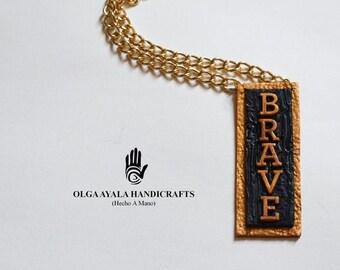 Speak Your Mind Necklace - BRAVE