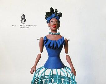 Caged Art Doll