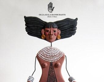 Taina - Mixed Media Art Doll on Base