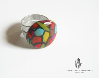 Multi Color Clay Ring - Size 6