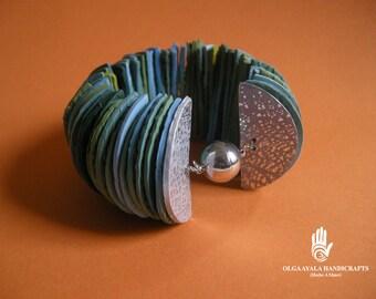 Half Disk Cuff Bracelet