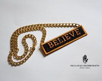 Speak Your Mind Necklace - BELIEVE