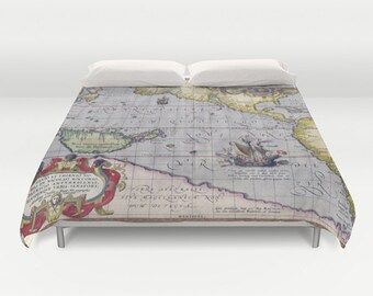 World map bedding | Etsy
