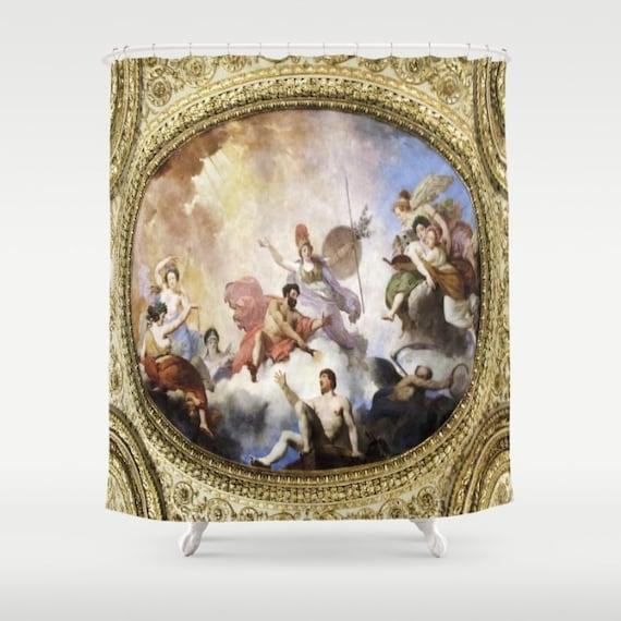 Fresco Shower Curtain, Painting Shower Curtain, Bathroom, Rich Home Decor, Classy Shower Curtain, Elite Shower Curtain, French Style Decor