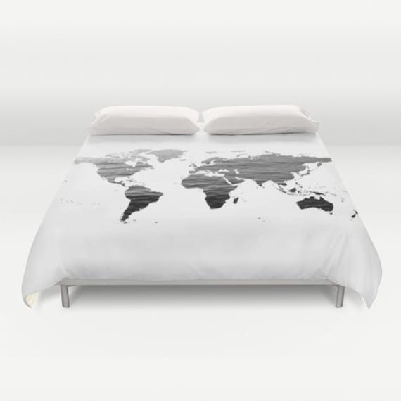Ocean texture map duvet cover decorative bedding world map gumiabroncs Images