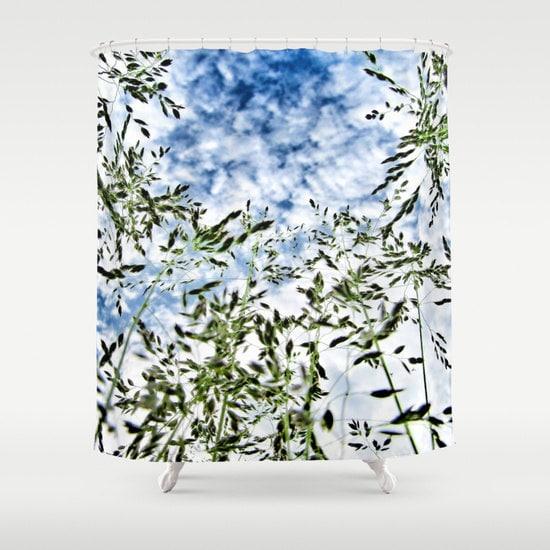 Grass And Sky Shower Curtain Bathroom Nature