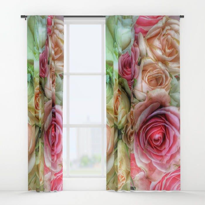 Roses Window Curtain, Flower Curtain, Decorative, Unique Design, Nature  Decor, Office Window Curtain, Dorm, Campus, Boudoir, Wedding Gift