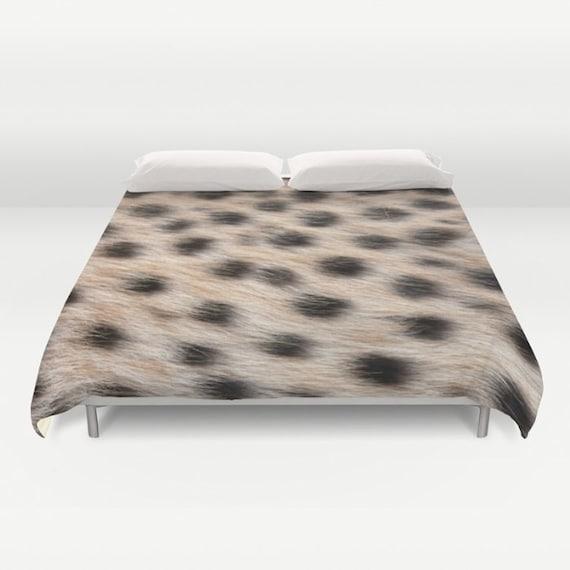 Cheetah Animal Print Duvet Cover, Made to Order, Cheetah Print Decorative Bedding, Dorm bedding, Bedroom, Safari Decor,Nature Duvet Cover