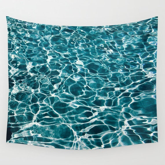 POOL Tapestry, Nautical Tapestry, Water Large Wall Decor, Ocean Blue Tapestry, Aqua Blue, Cool, Office, Sport Tapestry, Dorm Decor,Tropical