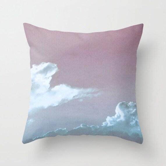 CLOUD Throw Pillow, Office, Decorative Pillow, Cloudy Sky, Nature Cushion, Wedding Gift, Living Room, Dorm Decor, 14x14, 16x16, 18x18, 20x20