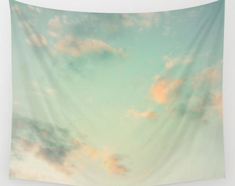Cloud Tapestry, Cloudy Sky Tapestry, Clouds Large Wall Decor, Photo, Office, Modern, Dorm, Wall Hanging, Nature Tapestries, Cloud Formation
