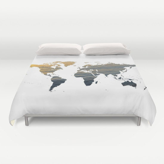 Sea texture world map duvet cover decorative bedding world map sea texture world map duvet cover decorative bedding world map bedding bedroom blanket black white brown dorm bedding modern bedding gumiabroncs Image collections