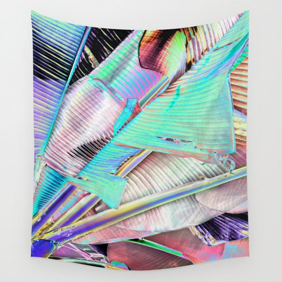 Another Day in PARADISE Wall Tapestry, Tropical Large Size, Banana Leaf, Fine Art Photography, Modern, Nature, Palms, Abstract, Dorm, Office