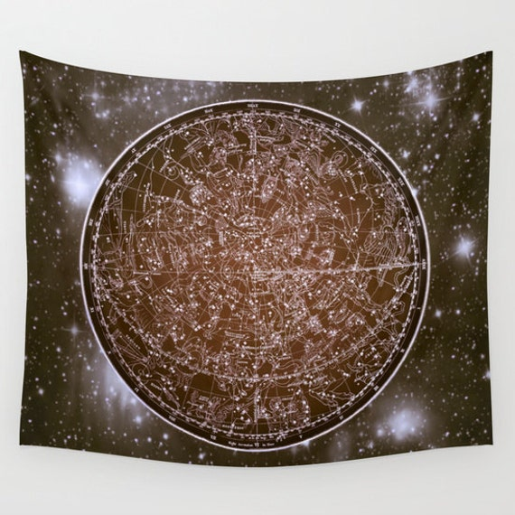 Zodiac Star Map Tapestry, Vintage Star Map Large Size Wall Art, Astronomy, Dorm, Office Decor, Ancient Map, Astrology,Star Sign, Horoscope