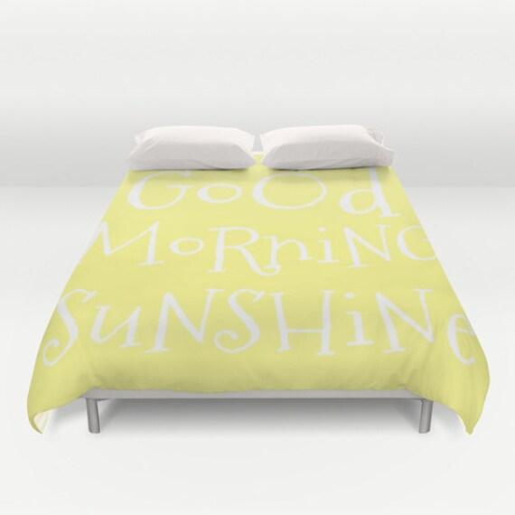 Guten Morgen Liebe Sonnenschein Bettbezug Auf Bestellung Gefertigt Text Bubble Bettwäsche Dekorative Bettwäsche Zitronengelb Inspiration