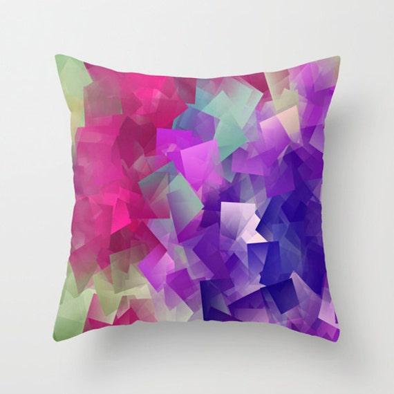 COLOR Block Pillow Cover, Colorblock Home Decor,Multicolored,Interior Design, Accent Piece, Contemporary Design, Square, Dorm, Office Pillow