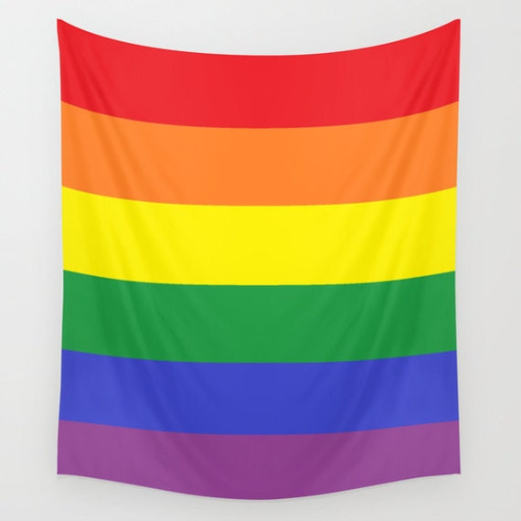 PRIDE Large Wall Tapestry, Multicolored, Office, Contemporary, Washable, Rainbow Tapestry, Home, Privacy screen,Dorm Decor,Modern, Gay Art
