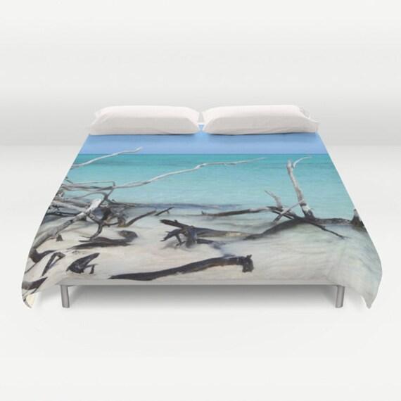 Beach Duvet Cover, Ocean Decorative bedding, unique design, Nautical, Dorm, Sea, Aqua Blue bedroom, Surf, Water, Ocean Blue, Calm Waters