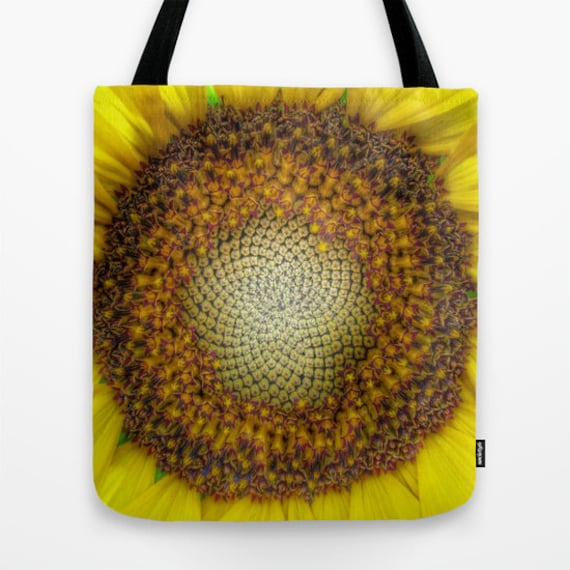 GHOST Sunflower Tote Bag, Contemporary, Office, Dorm, Beach Tote, Surf, Shoulder Bag, Market Tote, Vivid, Yellow, Holiday, Flower, Floral