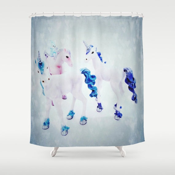 Unicorns Shower Curtain, Fantasy Bathroom, Toy Home Decor, Magical Photo Shower Curtain, Kids Bathroom, Surf, Kids Decor, Children Decor